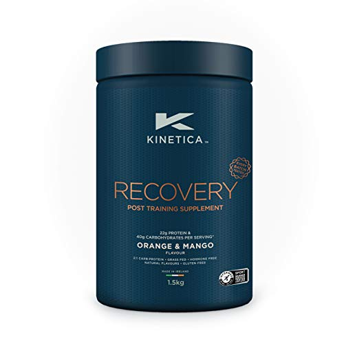 Kinetica Recovery Powder, Orange and Mango, 20 Servings, 1.5kg, Post Exercise Hydration, Muscle Repair and Energy Store Replenisher