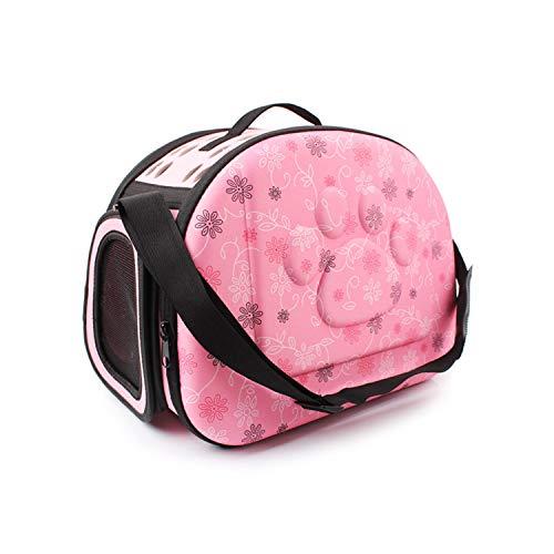 Fashion CQL Pet Bag/kat/hond beweegbare huisdier-out reistas/ademend Pet handtas/opvouwbare hond draagtas/roze/champagne Pet Carrier Outdoor