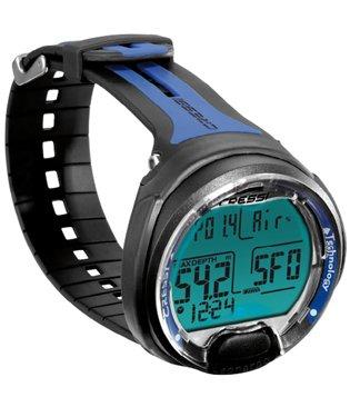 LEONARDO Cressi Sub Scuba Diving Wrist Computer Nitrox Compatible (Black/Blue)