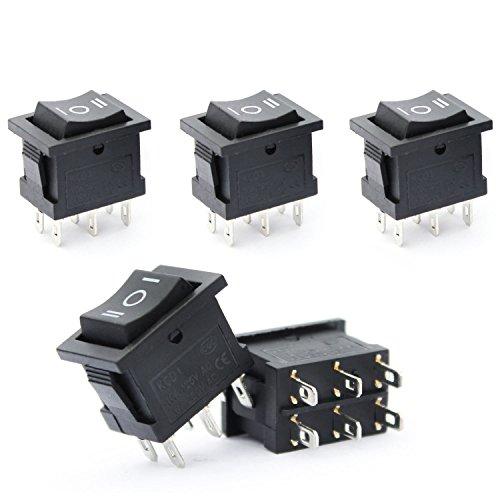 Ytian - Lote de 5 interruptores de encendido y apagado para coche, 3 posiciones, 6 pines