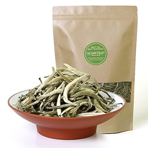 GOARTEA 500g (17.6 Oz) Premium Chinese Organic Bai Hao Yin Zhen BaiHaoYinZhen Silver Needle White Loose Tea Tee