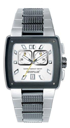 Caterpillar Hammer CA1505 - Reloj de Caballero de Cuarzo, Correa de Acero Inoxidable Color Plata