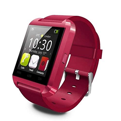 Wdckxy Hwj - Reloj de pulsera inteligente Bluetooth V3.0 + EDR (color: rojo)