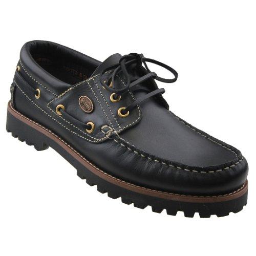 Dockers by Gerli Herren Mokassins Bootsschuhe - Schwarz, Cafe oder REH, Schuhgröße:EUR 42, Farbe:Schwarztöne