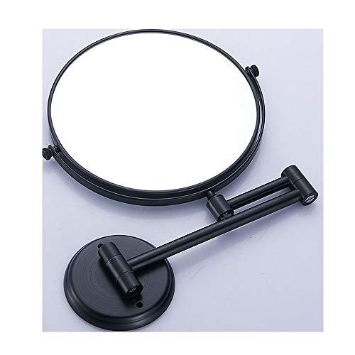WM Kosmetikspiegel, rund, doppelseitig, klappbar, aus Metall, 12.11