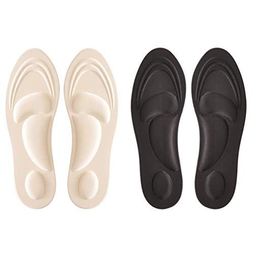 HEALLILY 2 Pares de Zapatos Deportivos Plantillas de Absorción Almohadillas de Zapatos de Masaje Plantillas de Esponja Plantillas de Zapatos Insertos Cojines Deportivos para Pies Planos