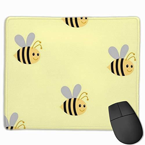 Cartoon Cute Bee Rutschfeste Persönlichkeit Designs Gaming Mouse Pad Schwarzes Tuch Rechteck Mousepad Art Naturkautschuk Maus Matte mit genähten Kanten