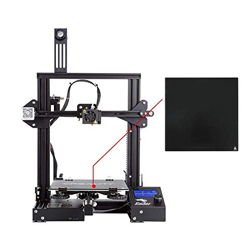 """Comgrow Creality 3D Ender 3X 3D Printer with Tempered Glass Plate and Five Free Nozzle Build Volume 8.6"""" x 8.6"""" x 9.8"""""""