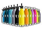 Super Sparrow Botella de Agua aislada al vacío de Acero Inoxidable, diseño de Pared Doble - 350ml...
