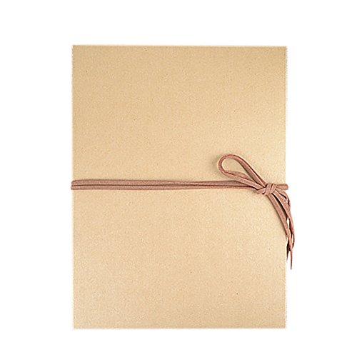Aspire Hand Made Adhesive Kraft Paper Folding Scrapbook Wedding Photo Album, DIY Anniversary Albums - Black