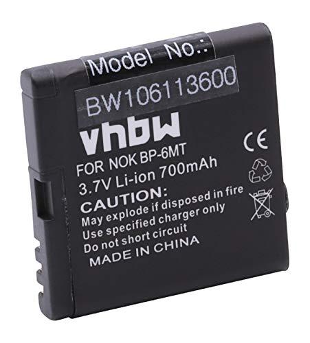 vhbw Akku kompatibel mit Nokia 6720 Classic, E51, N81, N81 8GB, N82 Handy Smartphone Handy (900mAh, 3,7V, Li-Ion)