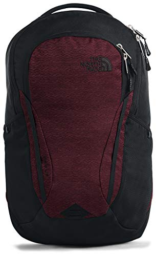 The North Face Women's Vault Backpack, Deep Garnet Red Light Splinter Heather/TNF Black, One Size