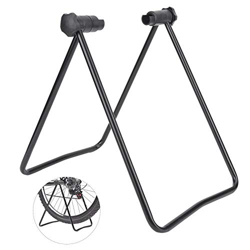 Bicycle Stand Thin Wall Steel Foldable Bicycle Stand Tube Bike Kickstand Support U Shape Repair Stand for Mountain Bike Cycling Foot Rack Parking Frame Bracket Equipment