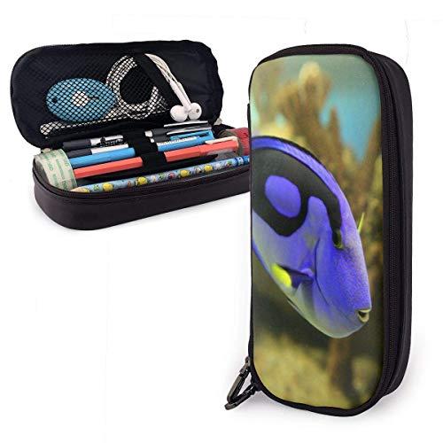 Dónde está Dory Estuche de cuero con cremallera Estuche para bolígrafo Estuche para estudiantes Estuche portátil para estudiantes