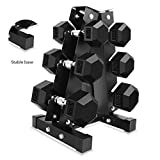Dumbbell Racks Household Hex Gym Exercise Arm 3 Layer Dumbbell Storage Rack(Does not Contain Dumbbells) (Color : Black, Size : 343656cm)