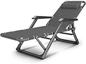 Folding Bed Folding Bed with Armrest Recliner Bed Siesta Bed Guest Bed for Office Living Room Folding Bed Single (Color : ...