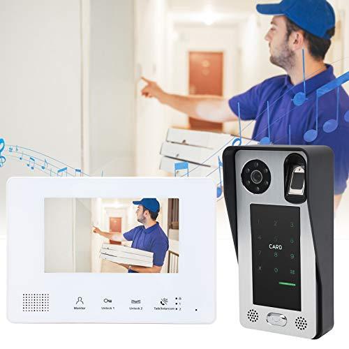 Timbre con video, compatible con 500 huellas dactilares Desbloqueo de contraseña con videoportero con bajo consumo de energía para el sistema de control de acceso