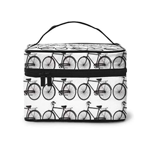 Fiets fiets patroon reis make-up trein case make-up cosmetica case organizer draagbare kunstenaar opbergtas