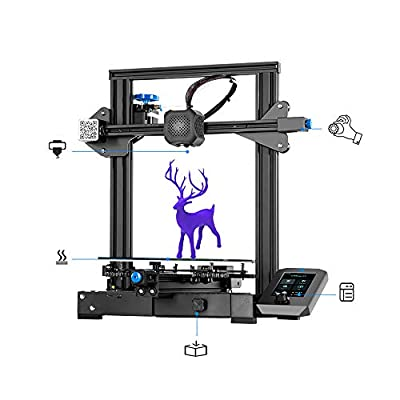 Creality Ender 3 V2 Upgrade Version 3D Printer with Integrated Structure Design/Silent Mainboard/Carborundum Glass Platform &and New User Interface Print