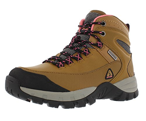 OTAH Forestier Womens Waterproof Hiking Mid-Cut Camel/Teal Boots Size 7.5