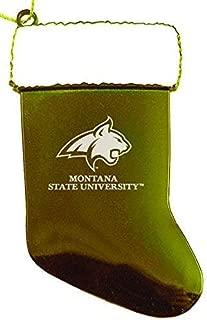 Montana State University - Chirstmas Holiday Stocking Ornament - Gold