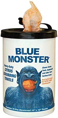 wholesale Blue outlet online sale Monster 77095 Blue Monster Heavy-Duty Citrus online sale Scrubbing Towel, 12  x 10 online