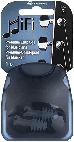 SwedSafe HiFi Premium oordopjes voor muzikanten, gehoorbeschermers met 22 dB isolatie Oordopjes M/L transparant