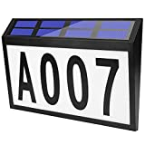 House Numbers Address Light, Address Number for houses, Solar Powered Address Plaque, LED House Number Sign, Solar Address Sign Light Up for Outdoor Walls, Courtyards, Streets, etc