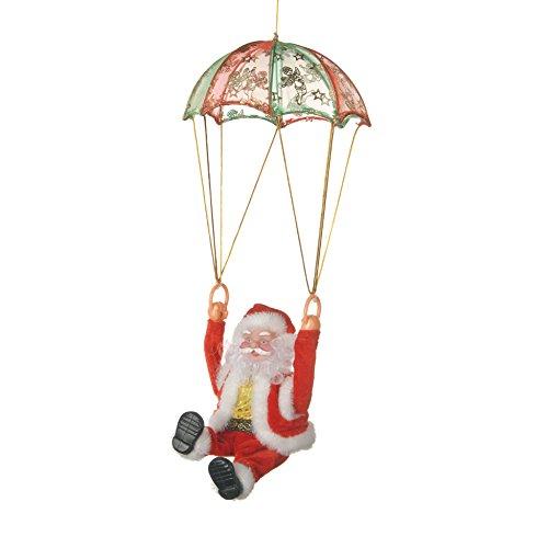 Autour de Minuit 5aut273Papá Noel Paracaidista a Pilas plástico, plástico, Multicolor, 10 x 10 x 41 cm
