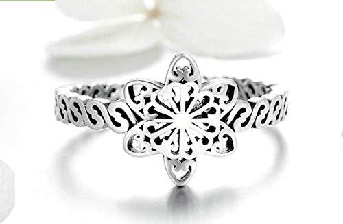 PRAK Damen 925 Sterling Silber Luxus Ringe,Einstellbare Baumeln Open Finger Ringe Schneeflocke Ringe Für Frauen Luxus Schmuck Kreative Sekt Süß Tragen Abendkleider