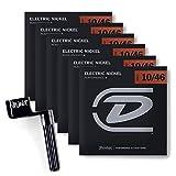 6 Packs of DEN1046 Electric-Nickel MEDIUM Strings (6/Set 10-46) w/ String Winder