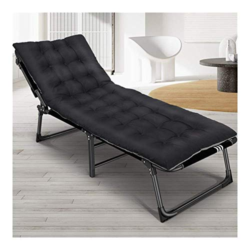 Metal Sun Lounger, Garden Folding Sunbed,190 68 32Cm, 200 Kg Max. Static Load, Rust-Resistant, with Breathable Synthetic Fabric, Backrest 4 Position Adjustment
