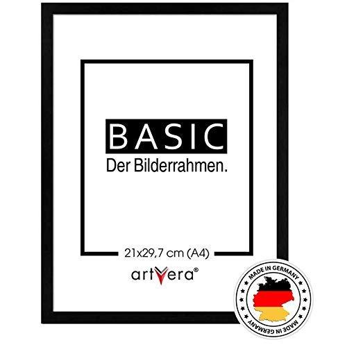 artvera Basic Holz Bilderrahmen schwarz DIN A4 (21x29,7 cm)
