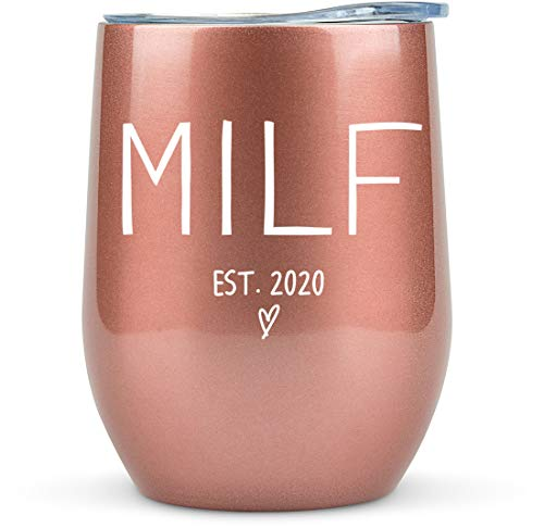 New Mom 2020 - MILF Tumbler/Mug for Wine, Coffee and all Drinks - Gift Idea for First Time Mom, New Mother