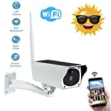 WooyMoo Caméra de Surveillance Solaire exterieure,1080P Wireless Surveillance Camera IP67 Waterproof Solar Security Camera with 10M Night Vision for Outdoor Indoor Home