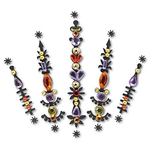 Face Gems/Purple Rhinestone Sticker/Face Crystal Jewels For Festivals/All In One Stick on Bindi/Temporary Glitter Tattoo Headpiece/Self Adhesive Rhine