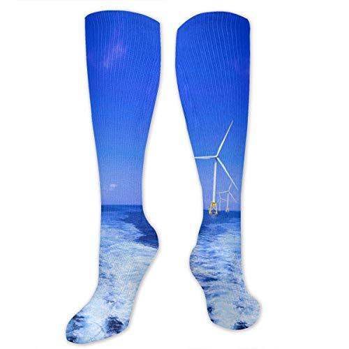 ouyjian Molinos de Viento Que generan Electricidad a Nivel del mar Personalidad Patrón Divertido Calcetines de Moda Calcetines para Hombres y Mujeres