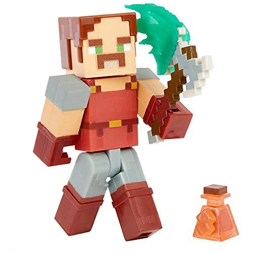 Minecraft GNC28 - Dungeons Hal, ca. 8 cm große Sammelfigur und Zubehörteile, Geschenk für fantasievolles Spielen für Kinder ab 6 Jahren