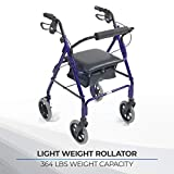 Lightweight mobility scooter blue adjustable in height 87,5-99,5 cm