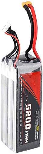 Dilwe 22,2 V LiPo-Akku, 5200 mAh 60C XT60-Stecker Wiederaufladbare LiPo Long Batterie für ferngesteuertes Auto   Flugzeug   Stiefel