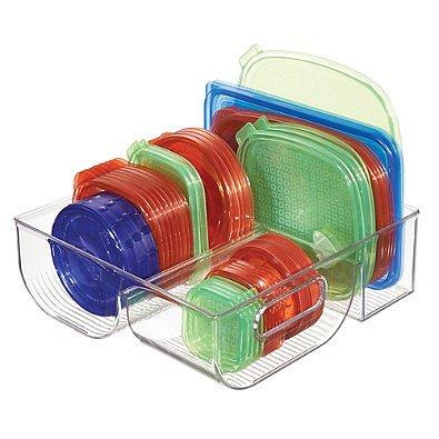 InterDesign Cabinet Binz 3 Compartment Lid Organizer