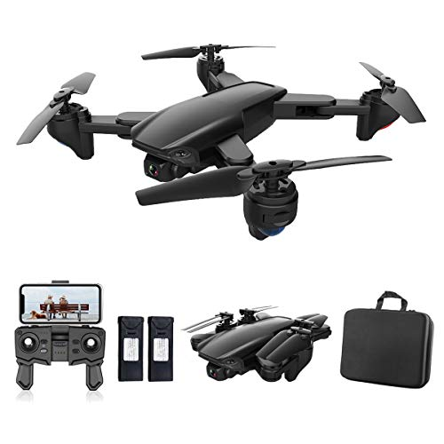 PWTAO Drone with Camera 4K FPV RC Quadcopters Drones with Camera for Adults 2.4GHz Remote / Phone / APP Controlled HD Camera Video Gesture Control Headless Mini Drone for Kids Adults Beginners