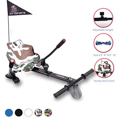 """CITYSPORTS Hoverkart mit Sitz,for All Hoverboard Electric Scooter Hovercart Universal verstellbare Befestigung, selbstausgleichender Roller Kompatibel von 6,5\""""bis 10\"""""""