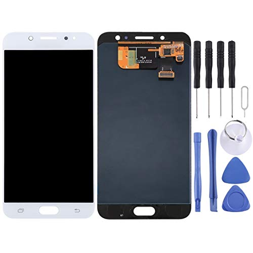 CAPOOK -LCD Display + Touch Panel for Galaxy C8, C710F/DS, C7100 (Black) DIY (Color : White)