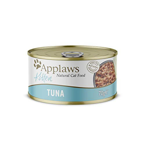 Applaws Natural Wet Kitten Food, Tuna in Jelly Tin, 70 g (Pack of 24) (Packaging May Vary)