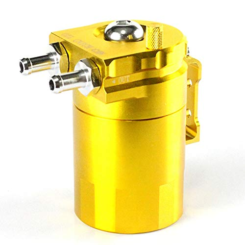 Cikuso Oro Bollitore Respirabile del Gas di Scarico dell\'automobile dell\'olio con Il Contenitore di Olio modificato filtrazione dell\'Aria Generale, 300ML