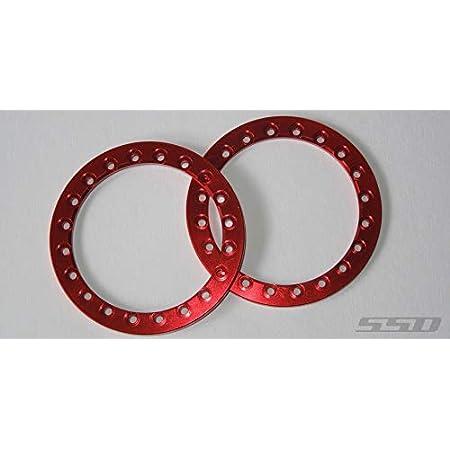 Blue Traxxas 8169X 1.9 Black Aluminum Beadlock Rings