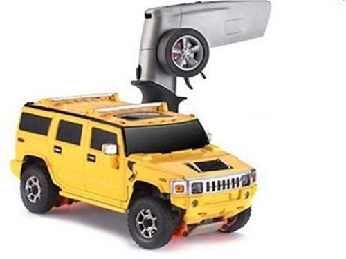 Dickie-Tamiya Carson 500407024 - Hummer H2 Set gelb, ferngesteuertes Offroad Fahrzeug, 1:28, Elektromotor, 2Kanal, 27 MHz, Fertigmodell