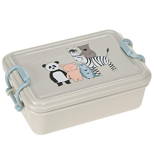 LÄSSIG Kinder Brotdose Vesperbox Lunchbox Kindergarten Snackbox spülmaschinenfest/Lunchbox About Friends, grau