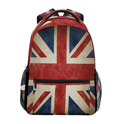BIGJOKE Mochila, bandera de Inglaterra Reino Unido de gran capacidad, informal, mochila de hombro, mochila de viaje, portátil, para mujeres, adultos, niños y niñas